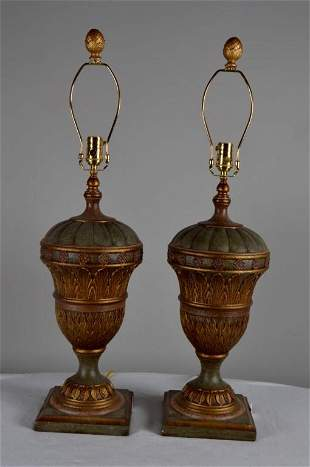 Pair of Bradburn Gallery Urn Form Lamps