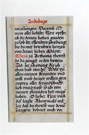 Leaf From Andechtige Gebet