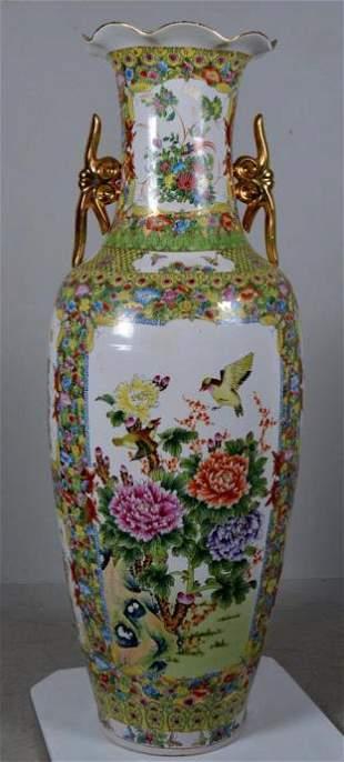 Large Chinese Porcelain Floor Urn