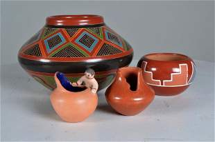 Collection of Modern Native American Pottery