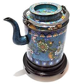 Rare Chinese Antique 19th Century Cloisonné Teapot