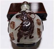 IMPORTANT SNUFF BOTTLE SIGNED INSCRIBED DATED 18TH C