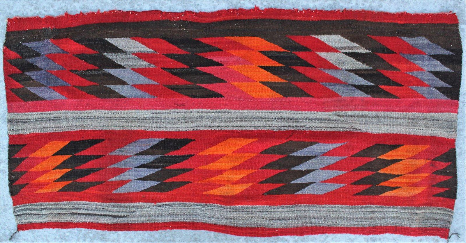 Navajo Childs Wearing Blanket