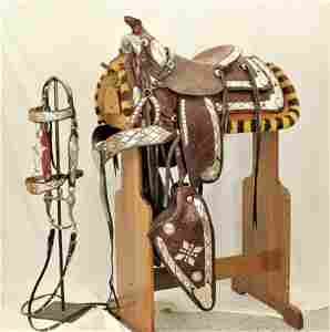 Bohlin Silver Mounted Saddle