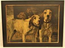 """Winchester """"Bear Dogs"""" Advertising Lithograph"""