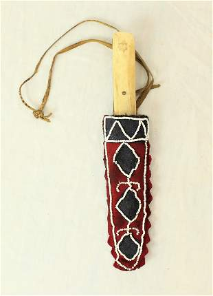 Crow Indian Knife and Sheath
