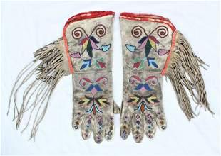 Santee Sioux Beaded Gauntlets