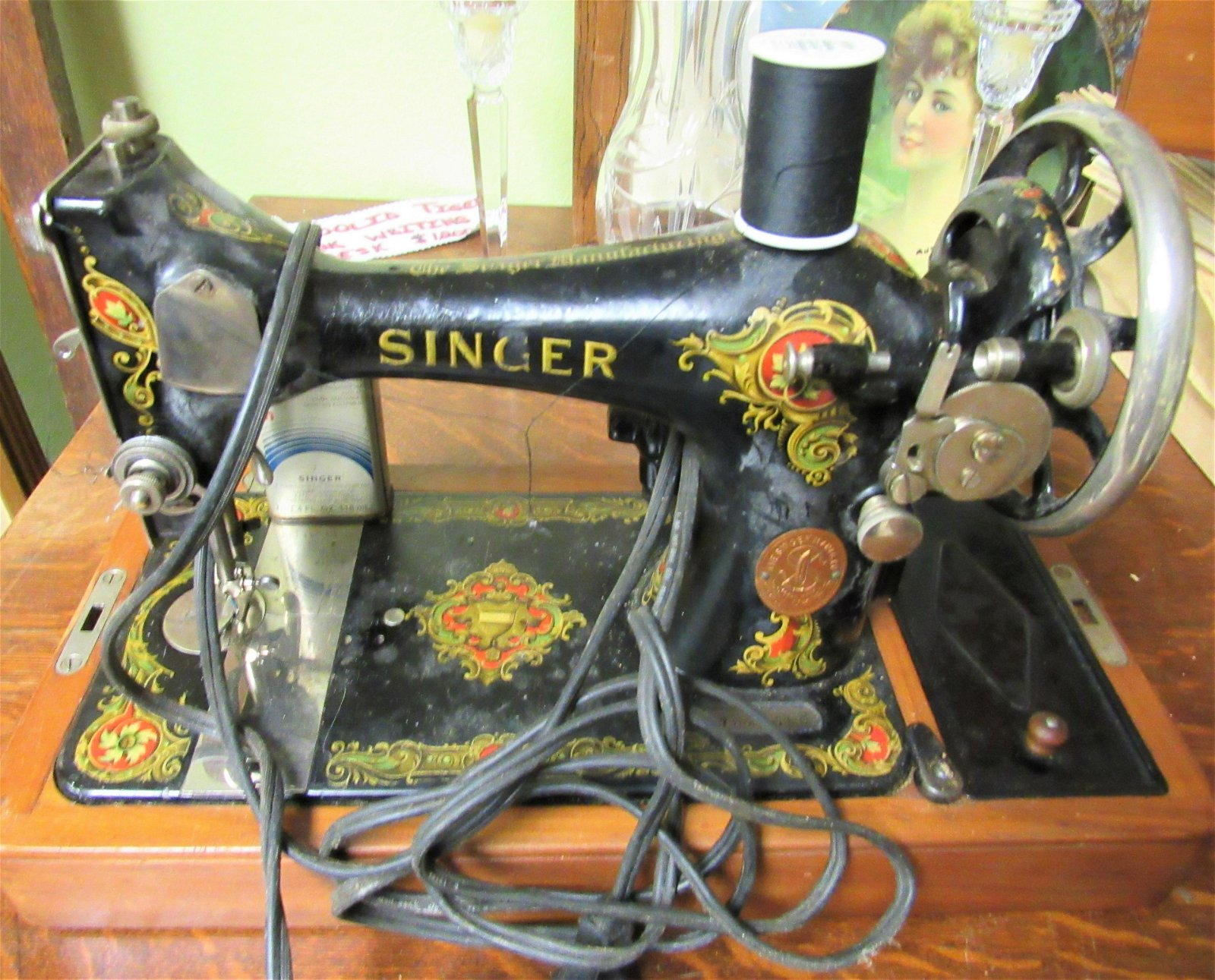 Antique 1908 Singer Sewing Machine