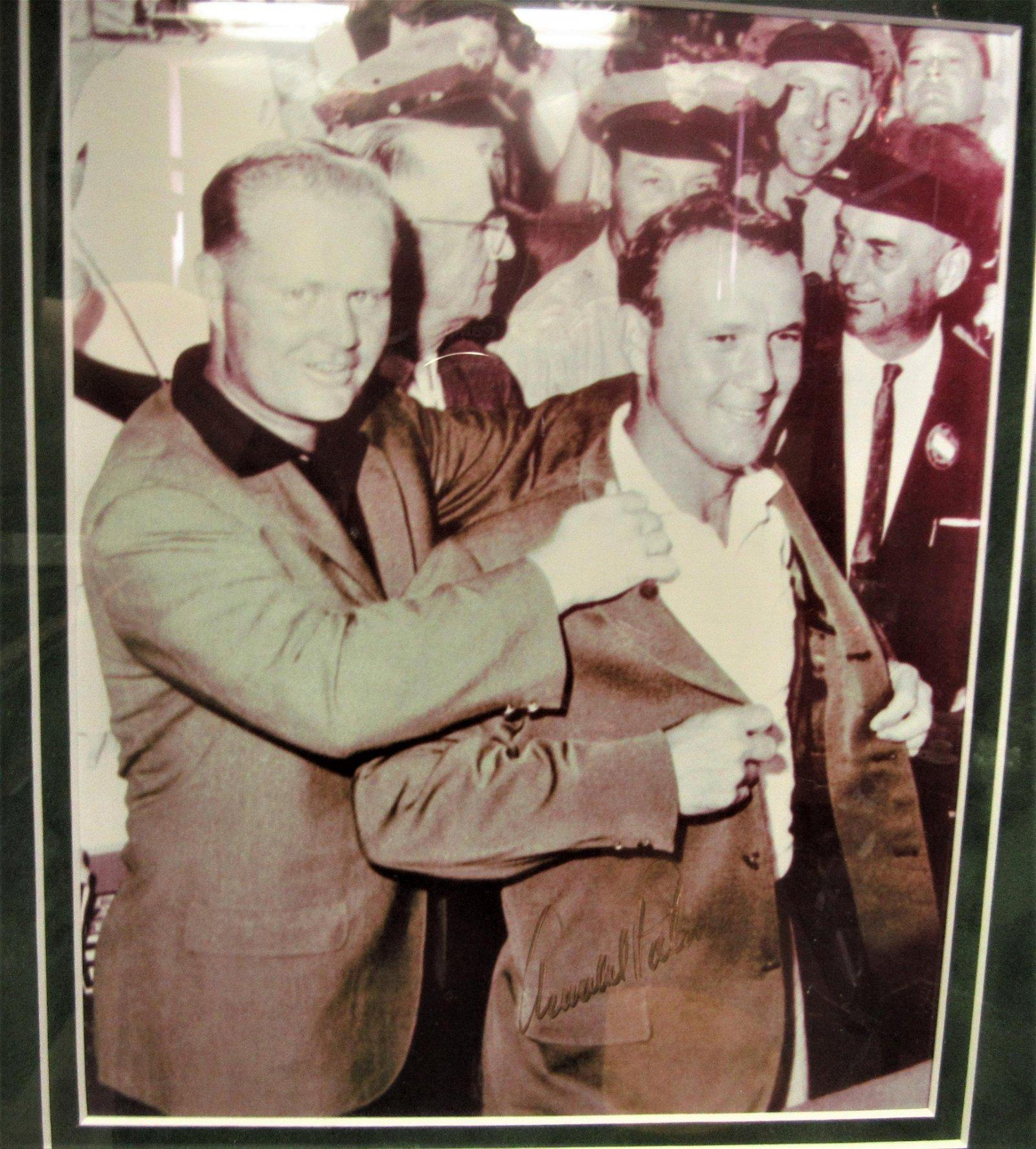 Arnold Palmer signed framed picture