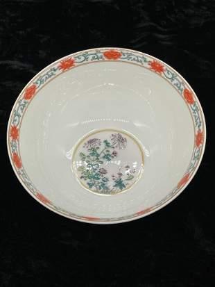 Jingdezhen Famille Rose Four Seasons Bowl 280 gms,