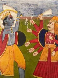 Jodhpur school Indian Miniature painting 26cm x 21cm
