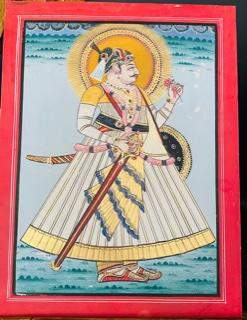 Indian Miniature painting Udaipur school depicting