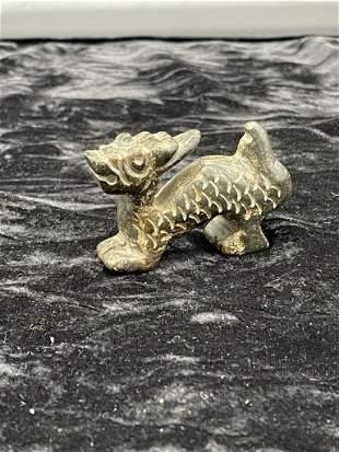 Hongshan Culture Meteorite stone Beast carving 80 gms,