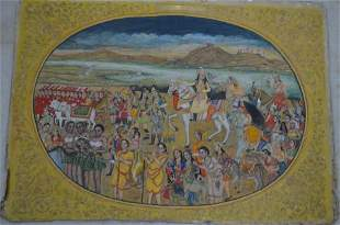 18TH CENTURY PAINTING DEPICTING NUR JAHAN ON A HUNT
