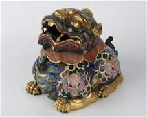 Chinese Antique Qing Dynasty Cloisonne Incense Burner