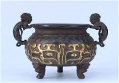 Chinese Antique Bronze Incense Burners & Censers