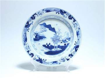 Chinese Blue And White Porcelain Painting Plate