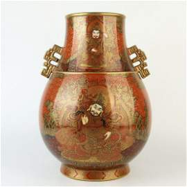 Chinese Collection Gilt Porcelain Buddha Thangka Vase