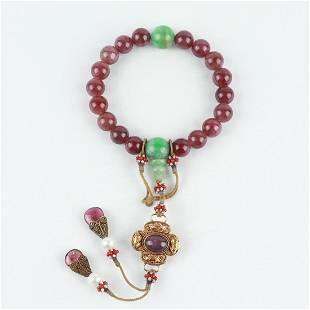 Chinese Tourmaline 18 Beads Bracelets