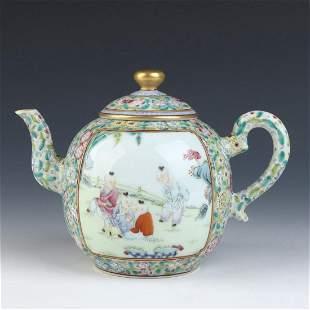 Chinese Enamel Porcelain Teapot