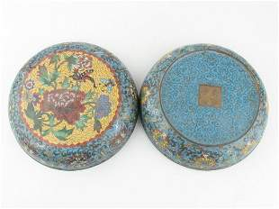 Chinese Cloisonne Box With Flowers