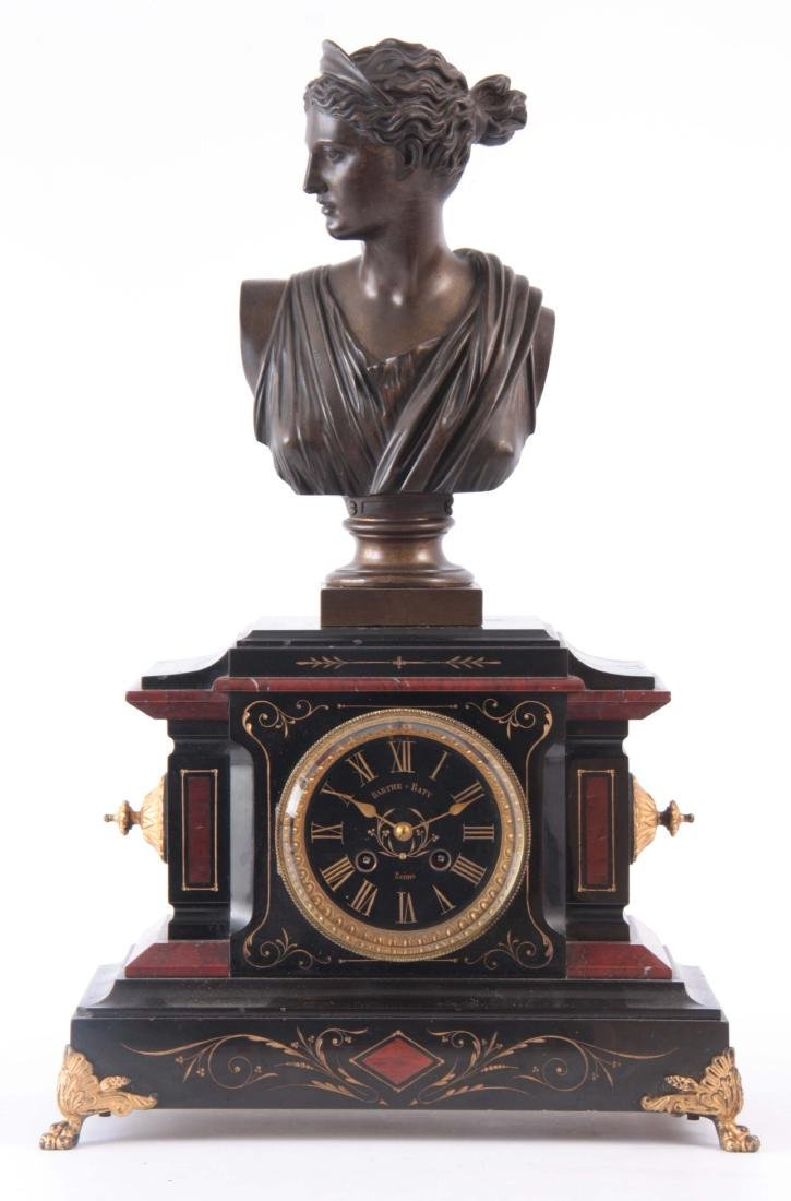 A LATE 19th CENTURY FRENCH MARBLE AND BRONZE FIGUR