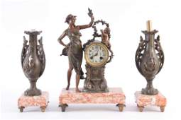 A FRENCH EARLY 20th CENTURY ART NOUVEAU FIGURAL CL