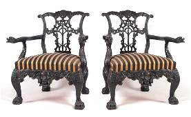 A PAIR OF 19TH CENTURY ANGLO INDIAN IRISH STYLE CA