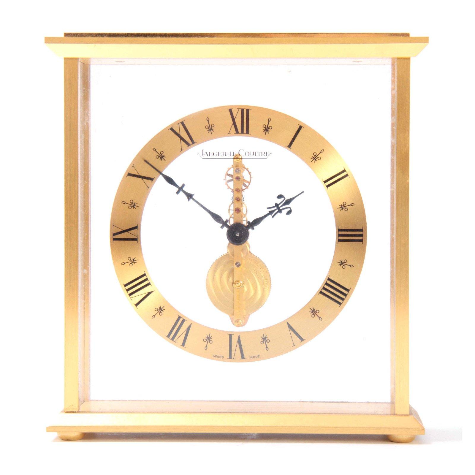 A MID 20TH CENTURY JAEGER-LECOULTRE MANTEL CLOCK