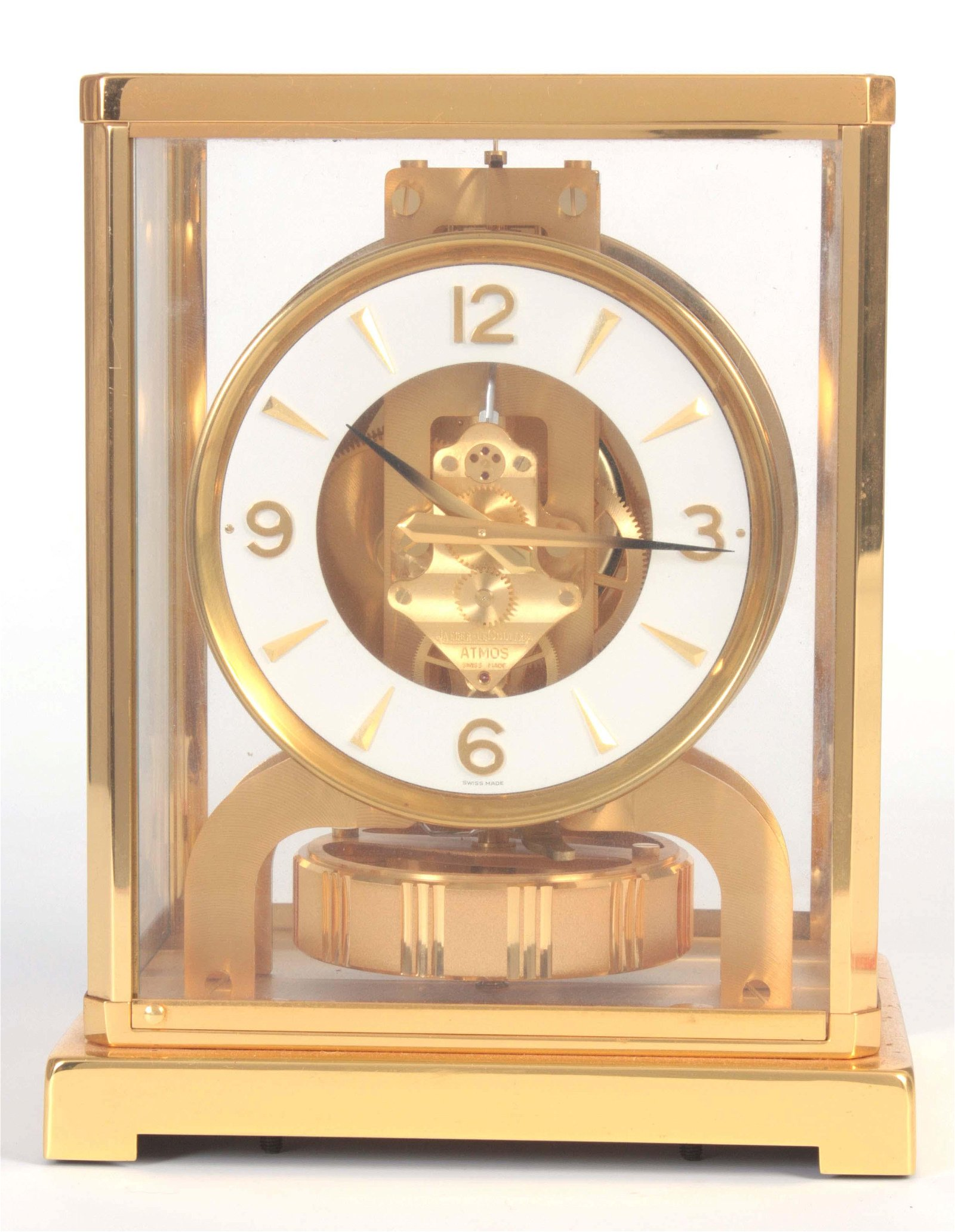 A JAEGER-LECOULTRE ATMOS CLOCK with a gilt brass f