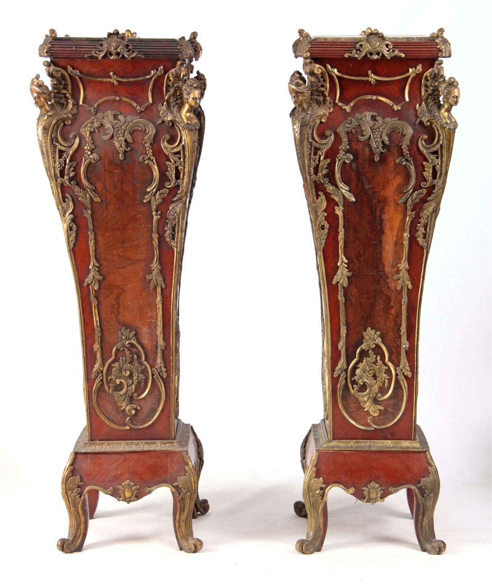 A PAIR OF 20TH CENTURY LOUIS XV STYLE FRENCH ORMOL