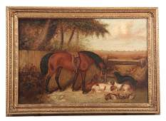 GEORGE ARMFIELD 1808-93 - OIL ON RELINED CANVAS ho