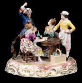 A LATE 19THEARLY 20TH CENTURY MEISSEN STYLE CONTI