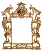 A MID 18TH CENTURY CARVED GILTWOOD CHINESE CHIPPEN