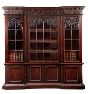AN IMPRESSIVE 19TH CENTURY LOW WAISTED MAHOGANY IN