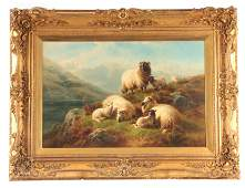 WILLIAM WATSON 1831-1921 LARGE OIL ON CANVAS Highland