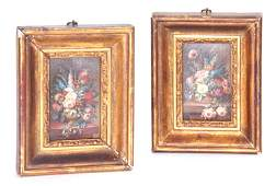 G BAYLE A PAIR OF MINIATURE 19TH CENTURY OILS ON BOARD