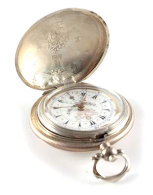 A SILVER FULL HUNTER OTTOMAN EMPIRE POCKET WATCH signed