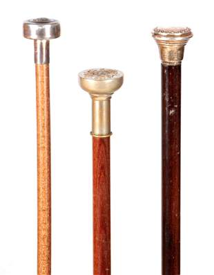 A SELECTION OF THREE EARLY 20TH CENTURY WALKING STICKS