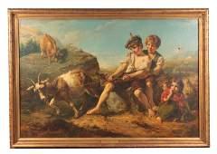 JOHN THOMAS PEELE 1822-1897. OIL ON CANVAS A