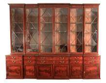 A MAGNIFICENT GEORGE III MAHOGANY COUNTRY HOUSE TRIPLE