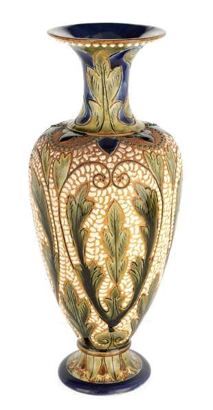 AN UNUSUAL LATE 19TH CENTURY FULHAM POTTERY STONEW