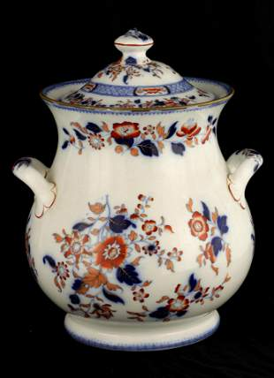 A LATE 19TH CENTURY IRONSTONE STYLE MINTON JAR AND