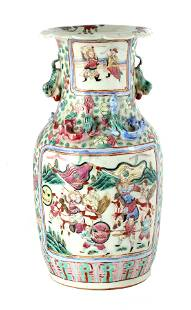 A 19TH CENTURY CHINESE CANTON VASE decorated with