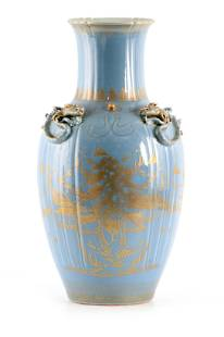 AN IMPRESSIVE 19TH CENTURY CHINESE BLUE AND GILT D
