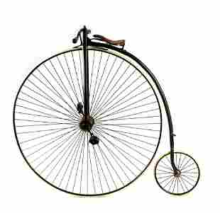 A LATE 19TH CENTURY PENNY FARTHING BICYCLE WITH 52