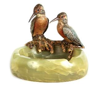 AN EARLY 20TH CENTURY AUSTRIAN COLD PAINTED BRONZE