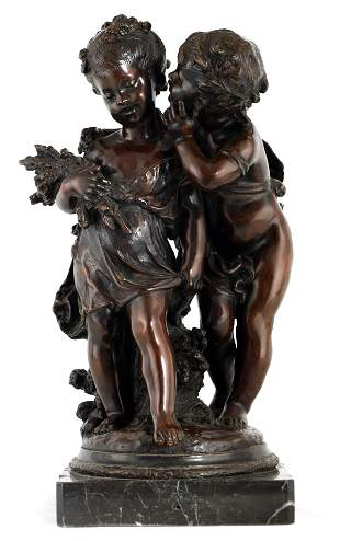 A 19TH CENTURY STYLEFRENCH BRONZE FIGURE GROUP depictin