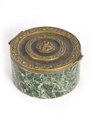 A 19TH CENTURY FRENCH GRAND TOUR GILT BRONZE AND M