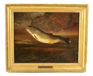JOHN FITZ MARSHALL, RBA.1859-1932 OIL ON CANVAS t